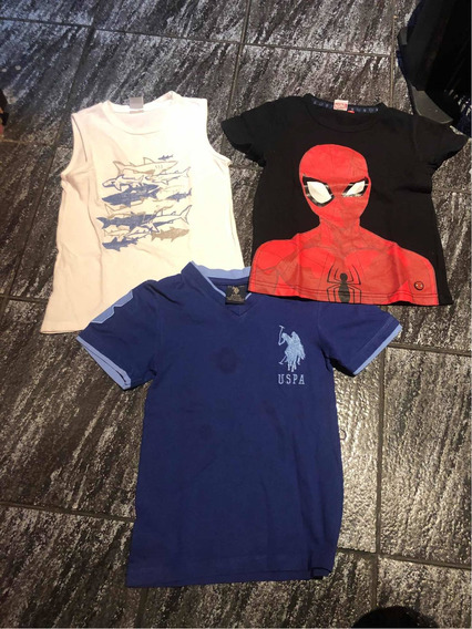 Lote 2 Remeras Y 1 Musculosa Talle 3 A 4
