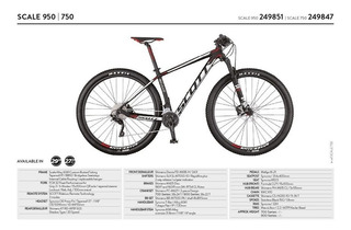 Bicicleta Mtb 29er 27.5 Scott Scale 950 / 750 Stock! 2017