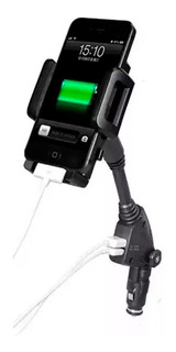 Soporte Cargador Celular Auto 2 Usb iPhone Samsung Smartphon