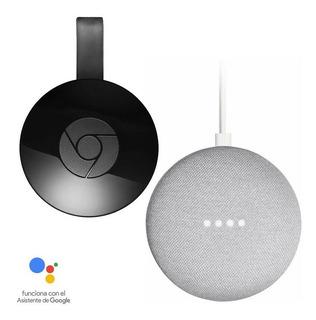 Bundle De Bocina Google Home Mini + Chromecast