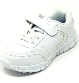 Zapatos Dep. Escolares Yoyo 15339v Blanco 32-39 Envío Gratis