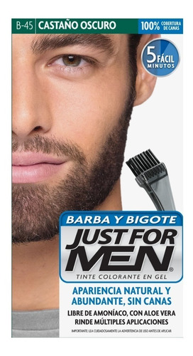 Just For Men Colorante Gel Castaño Oscuro Barba Y Bigote