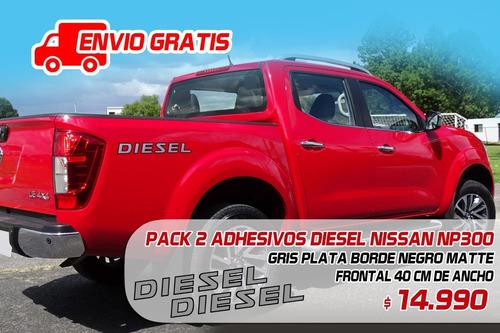 Imagen 1 de 1 de Emblema Adhesivo Diesel Nissan Np300, Envío Gratis