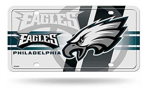 Imagen 1 de 1 de Philadelphia Eagles Nfl Circulo Blanco Metal Auto Etiqueta