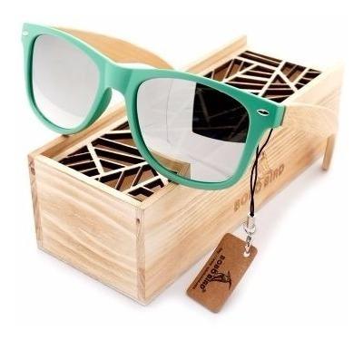 Óculos Sol De Madeira Artesanal Bobo Bird Lanta Prata Cg009