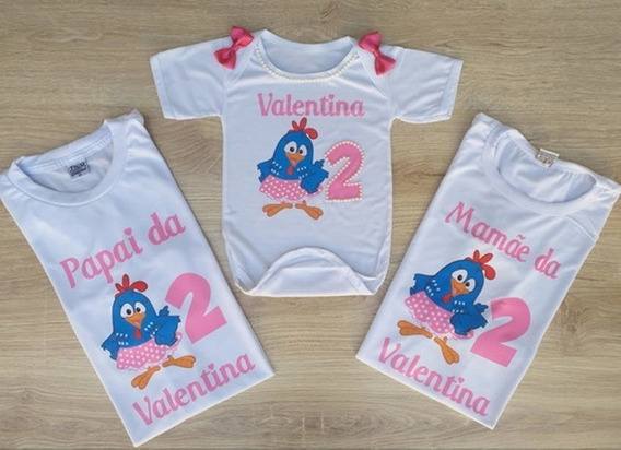 Bory Galinha Pintadinha + 2 Camisetas