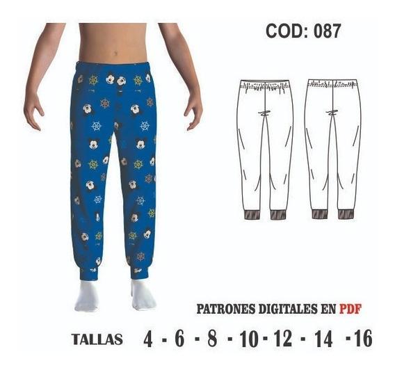 Molde Pantalon Pijama De Ninos Tallas 4 6 8 10 12 14 16 Mercado Libre