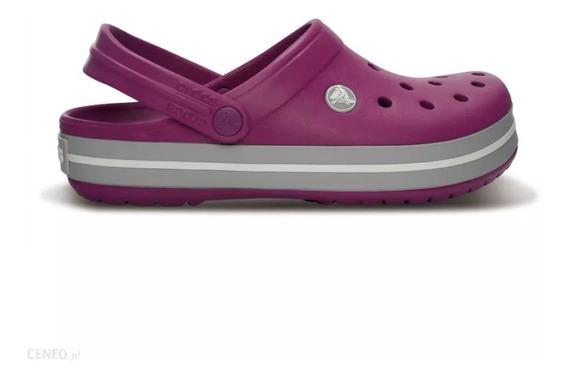 Crocs Crocband Viola-light Grey Mujer Originales