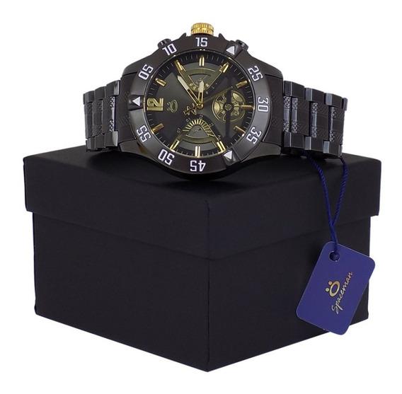 Relógio Masculino Pulseira Aço Inox Caixa Original