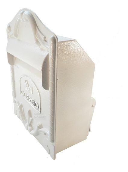 Caixa De Correio Branca Muro 39x28cm Alumínio Beta Luxo