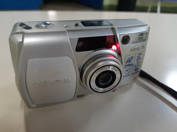 Câmera Analógica Máquina Fotográfica Olympus Infinity 76 Af