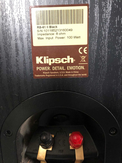 Monitores De Áudio Klipsch Rb 61 Ll Novíssima 1650,00