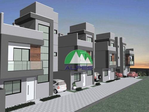Triplex Sobrado Com 3 Dormitórios À Venda, 104 M² Por R$ 540.000 - Guaíra - Curitiba/pr - So0967