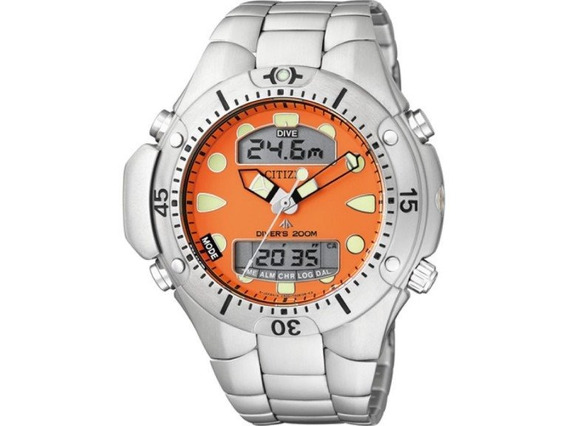 Promoção Relógio Citzen Aqualand Tz10128j V. Laranja + Frete
