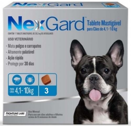 Nexgard Antipulgas  Perros 4 A 10kg Garrapatas Caja X 3 Unid