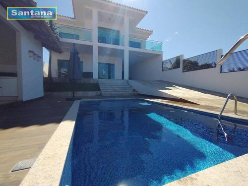 Casa Alto Padrão Vista Para O Lago Sao 4 Suites Venda, 350 M² Por R$ 1.500.000 - Condomínio Náutico Prive Das Caldas - Caldas Novas/go - Ca0198