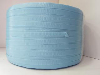 2 Zunchos Artesanales Plastico Azul Celeste Bolsos Canasto