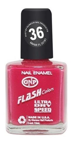 Imagen 1 de 4 de Esmalte Flash Colors De Gnp 15ml Nro.36