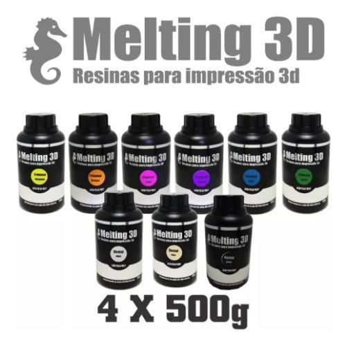4 Resinas Melting 3d - Standard - Lcd/sla/dlp - 380/420nm