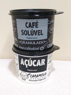 Kit Tupperware Redondinha De Açúcar E Café Solúvel 500 Ml
