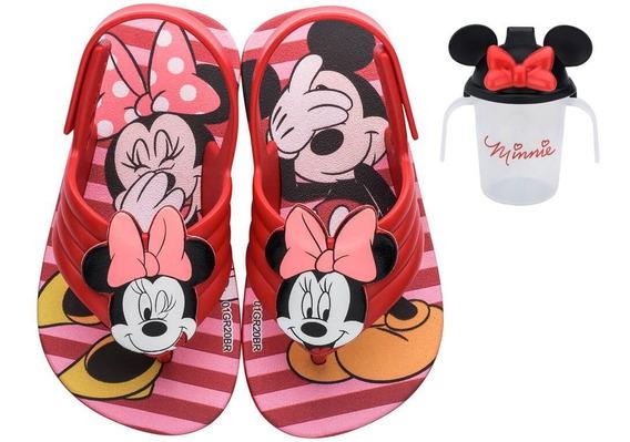 Sandalia Infantil Bebe Mickey E Minnie 22165 +brinde Copinho