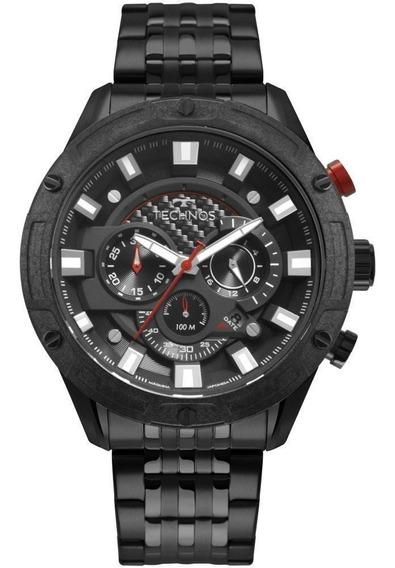 Relógio Masculino Technos Ts Carbon Js25cl/4p 50mm Aço Preto