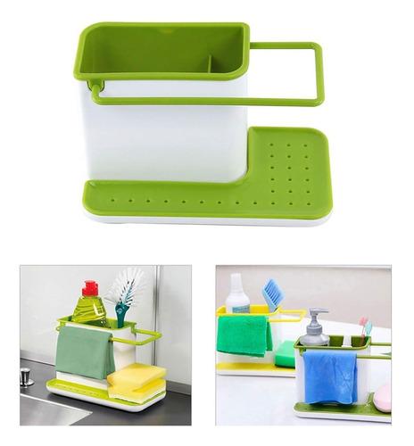 Imagen 1 de 3 de Organizador Bacha Cocina Esponja Cepillo Detergente Oferta
