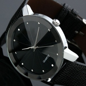 Relógio Pulso Luxo Preto Aço Inoxidável Feminino