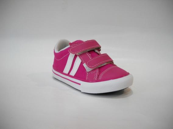 Zapatillas Con Abrojo Infantil- Fucsia Y Azul - Del 19 Al 26