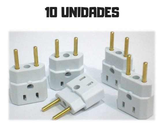 10 Adaptador De Tomada Universal T Bejamim Bob Pino Atacado