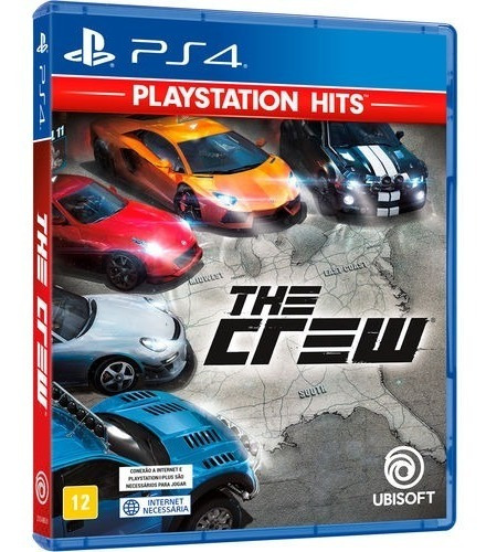 Jogo The Crew Ps4 Playstation 4 Mídia Física Lacrado