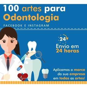 100 Artes Para Clinicas Odontológicas - Facebook Instagram