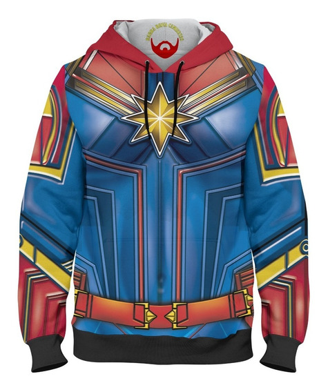 Blusa De Frio Moletom Unissex Capitã Marvel