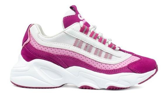 Tênis Qix Chunky Wave Pink E Rosa Original