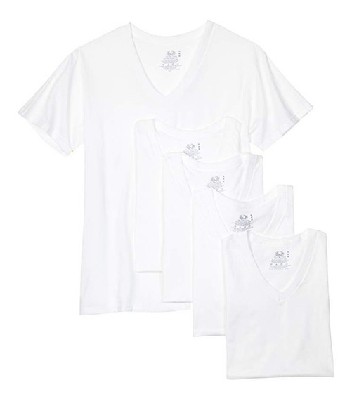 * Camiseta Playera Fruit Of The Loom V Neck 2xl Blanco #5