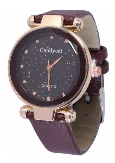 Reloj Dama Corte Diamante Piedra Análogo Casual Chico