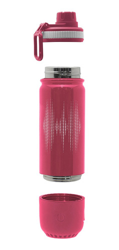 Imagen 1 de 3 de Botella Doble Pared 450ml C/ Bluetooth Rosa