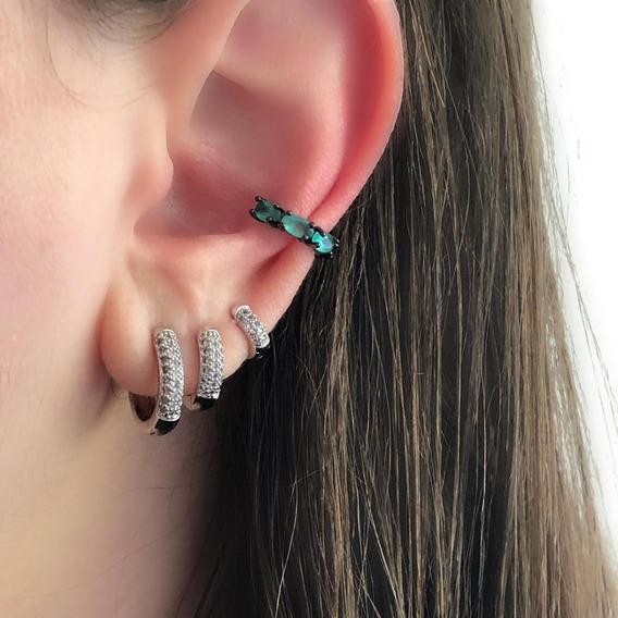 Piercing De Orelha Conch Cartilagem De Pressão Falso Biju