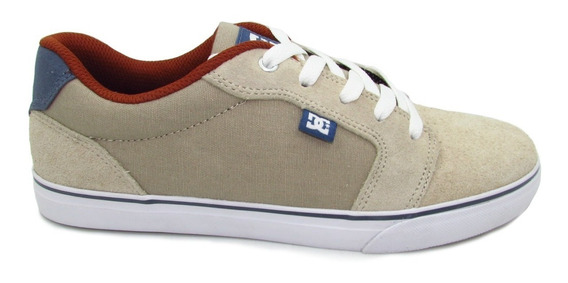 Tenis Dc Shoes Anvil Youth Adbs300245 Tan Beige Piel Gamuza