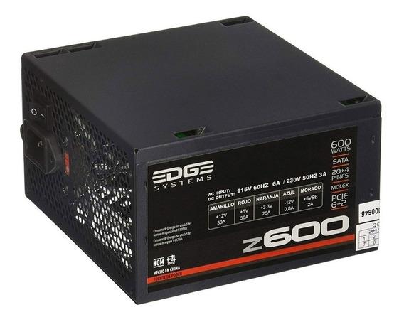 Fuente De Poder Pc 600w Atx Gamer Z600 Es-05003 Acteck /v /v