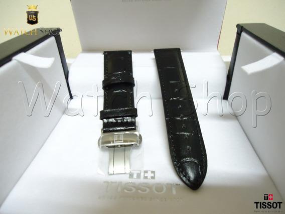 Pulseira De Couro Tissot T086407 22mm Preta - Original