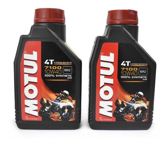 Aceite Moto 10w40 Sintetico 100% Motul 7100 Kit 2 Litros