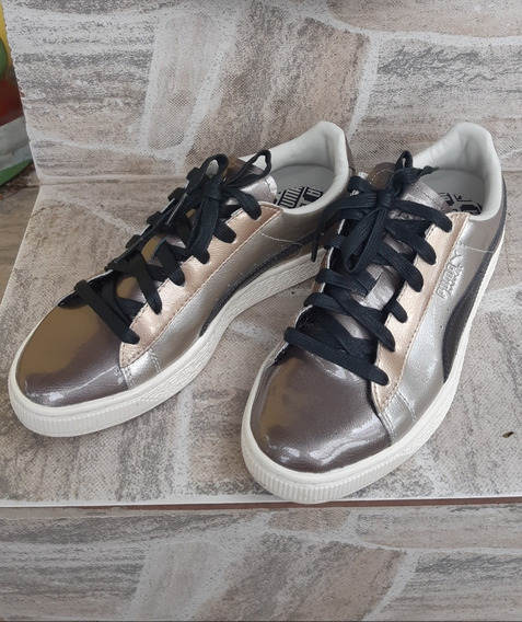 Tênis Puma Basket Bouble Gold