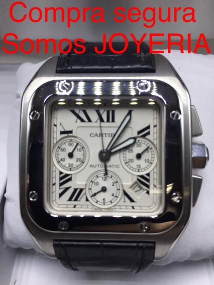 Cartier 110mil Santos 100 Xl Cronografo Certificado Papeles