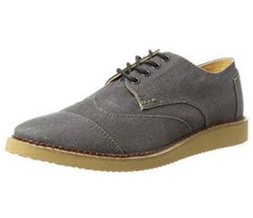 Toms Zapatos Oxford Brogue Aviador Color Ceniza *