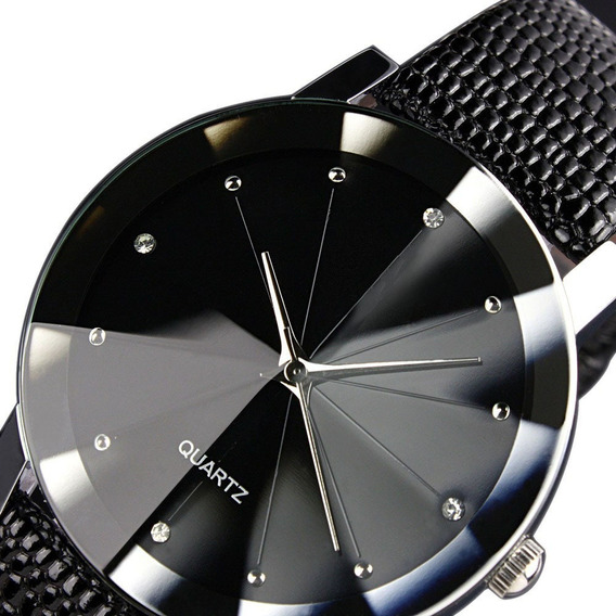 Relógio Feminino Luxo Casual Couro Sport Preto Intimes