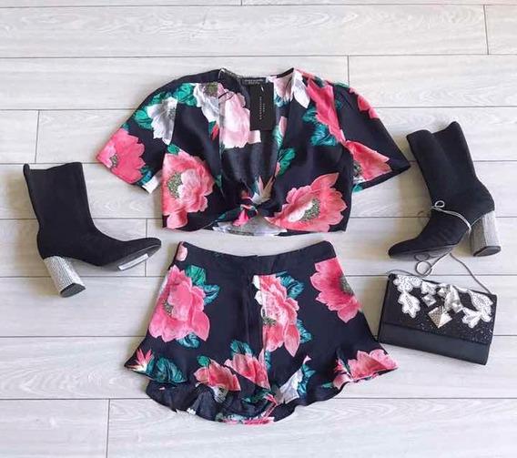 Camisa Y Short Zara Importado Tb Ginebra, Jazmin Chebar