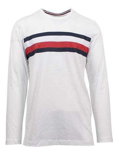 Tommy Hilfiger Camiseta Con Logo De Rayas Modern Talle L