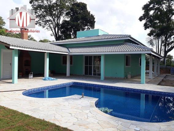 Chácara Maravilhosa Com 03 Dormitórios À Venda, 1000 M² Por R$ 335.000 - Zona Rural - Pinhalzinho/sp - Ch0510