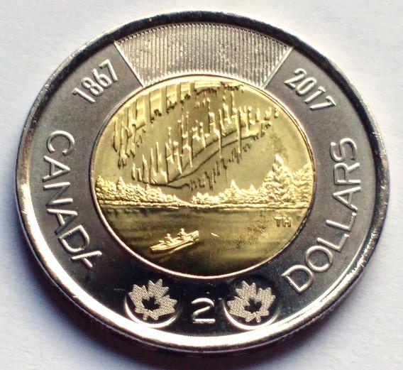 Moneda De Canadá, 2 Dollars 2017. Sin Circular.